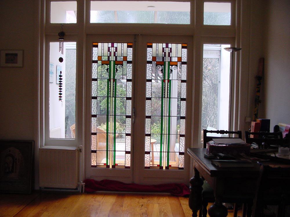 En Suite Schuifdeuren.Kamer En Suite Glas In Lood Jaren Stijl Kamer En Suite Moderne